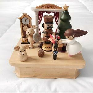 Nutcracker ballet wooden music box